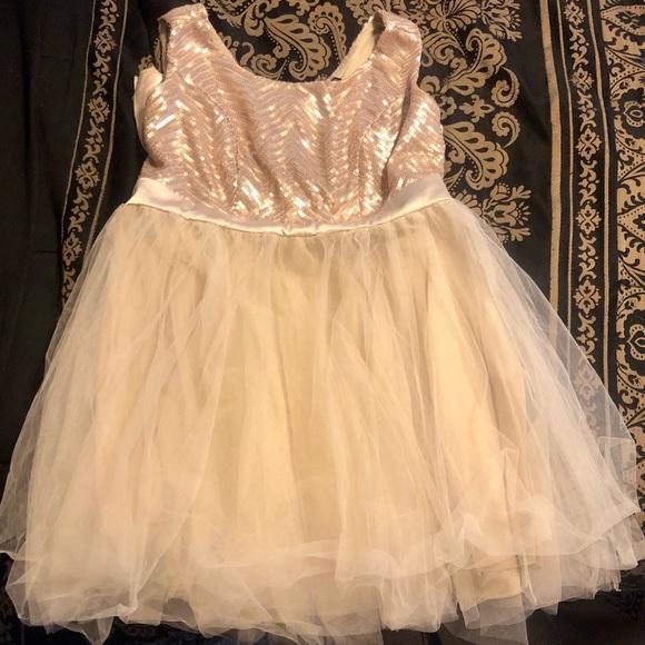 Rose Gold Trixxi Plus Size Homecoming Dress